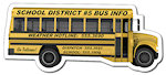 4.88 X 2.1214 inch School Bus Shape Magnets